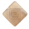 Glass Bead Flat Square 15mm With Top Drill Smoked Topaz Matt - Strung